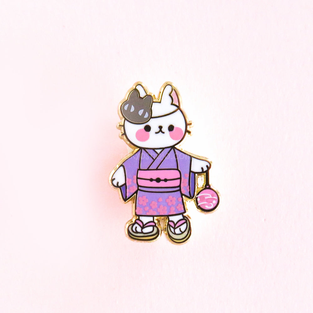 Yukata Cat Pin