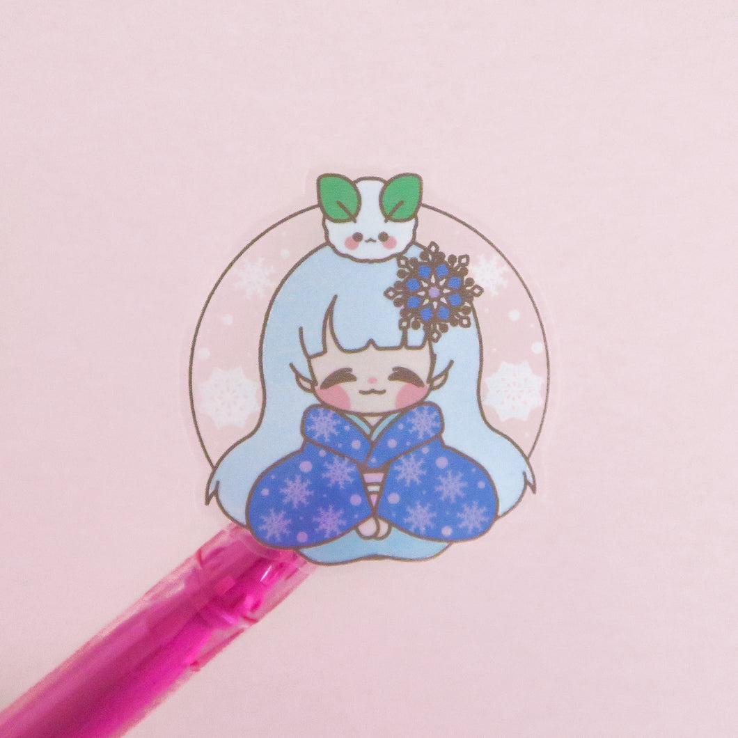 Yuki Onna Clear Vinyl Sticker