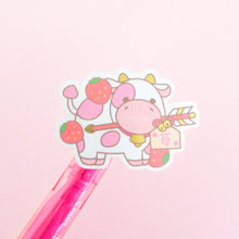 Load image into Gallery viewer, Strawberry Ox Gold Brushed Vinyl Sticker