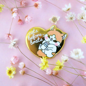 Cats Before Brats Pin