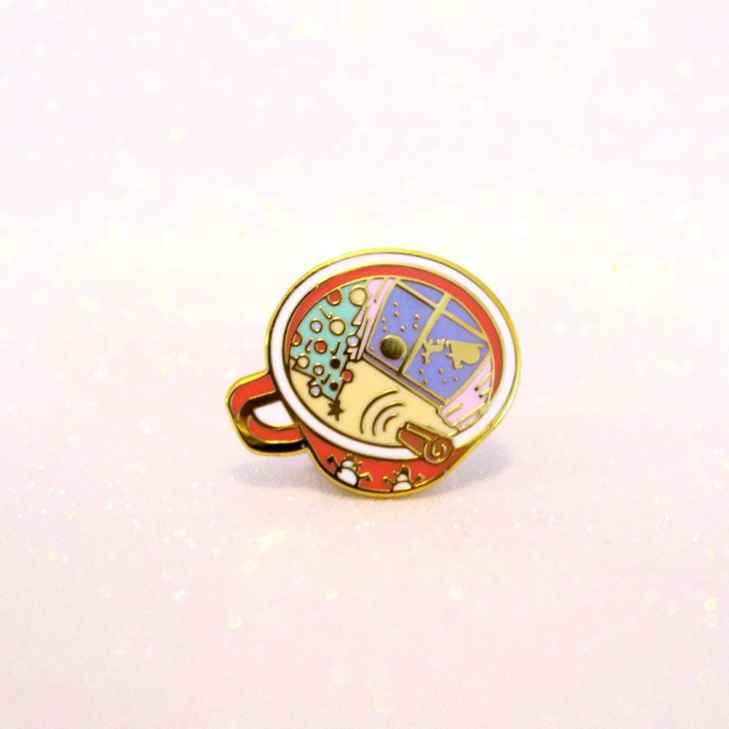 Cup of Christmas Pin
