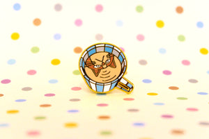 Cat's Cup Pin