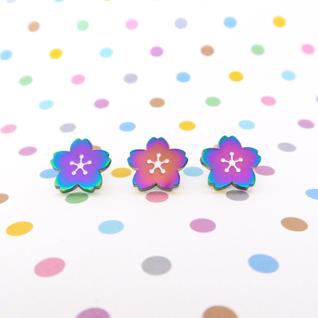 Mini Sakura Rainbow Enamel Pins