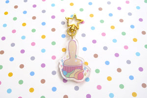 Paint Brush Holo Acrylic Charms