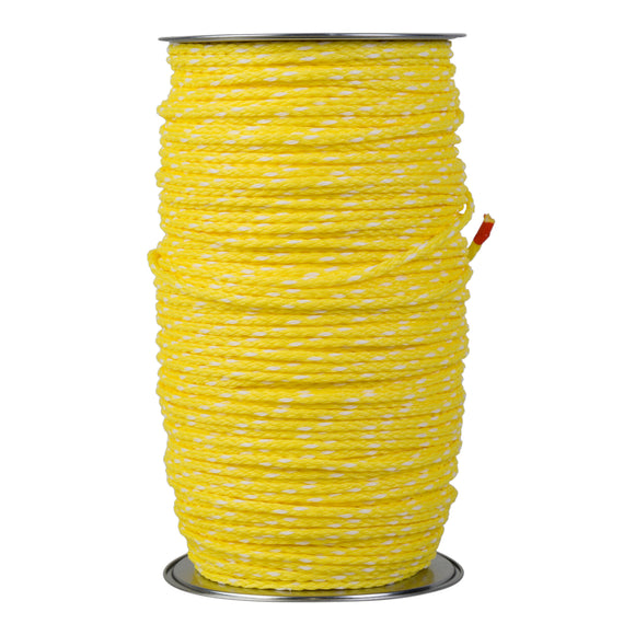 Cord 6.0mm Hollow core for Pan feeders - Yellow - 300m reel