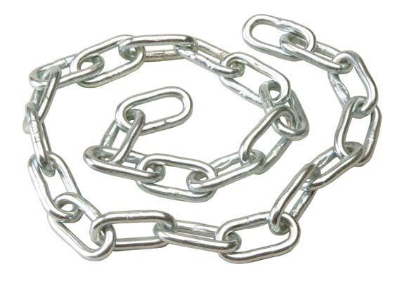 Welded Chain 5mm dia, with 28mm internal Dia link, side welded - 50m bag