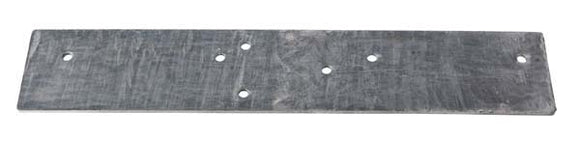 Winch Plate (Plated) 650x120x6mm Flat, Worm winch to Steel Frame