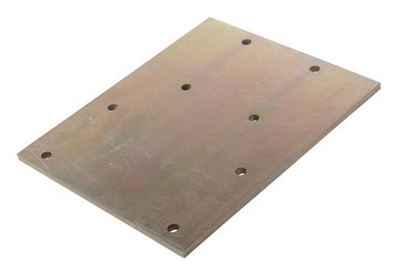 Winch Plate (Plated) 300x250x8mm Flat, Capstan Winch to Steel Frame