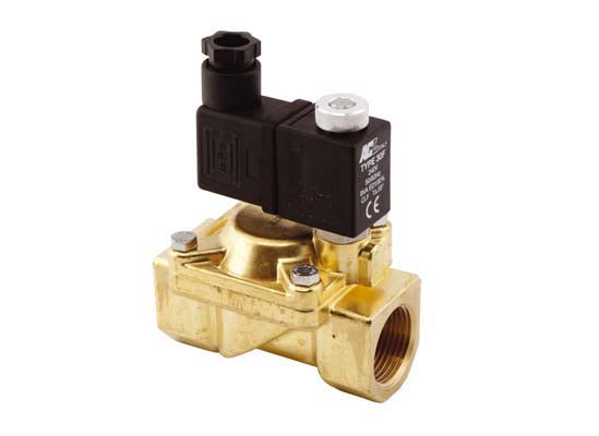 "Brass Solenoid Valve - Requires Coil & Connector Block - ¾"" Normally Closed"