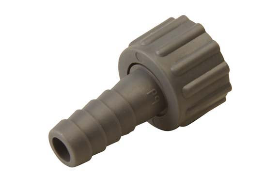 "½"" F x 13mm Nut & Tail, Polypropylene, Female thread x hose tail"