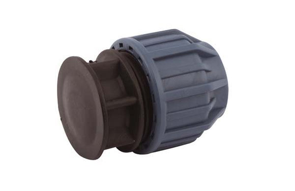 WRAS Approved compression fittings for MDPE pipe - Alkathene - 20mm Compression end cap