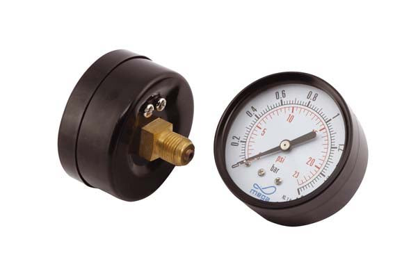 "0-1.6 bar Pressure Gauge, ¼"" Rear Connection. Dry type"