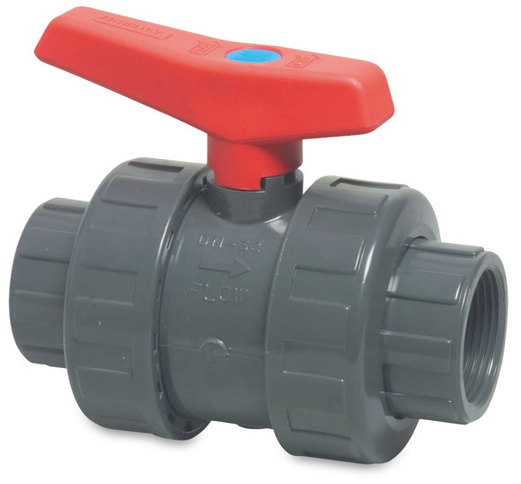 PVC Double Union Ball Valve 3/4