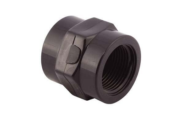 "½"" x ½"" PVC Threaded Socket, Female thread x Female thread"