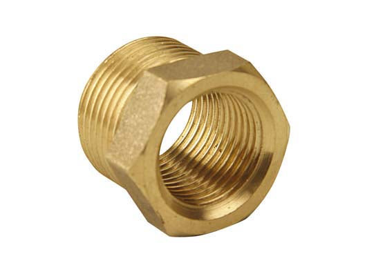 "1¼"" x 1"" Brass Reducing Bush, Male thread x Female thread"