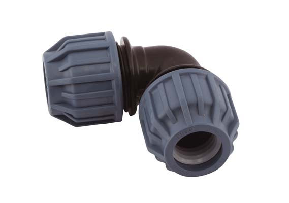 20mm x 20mm Compression Elbow 90°, Compression x Compression