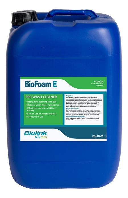 BioFoam E High Foaming Pre-Wash Cleaner 25 litre