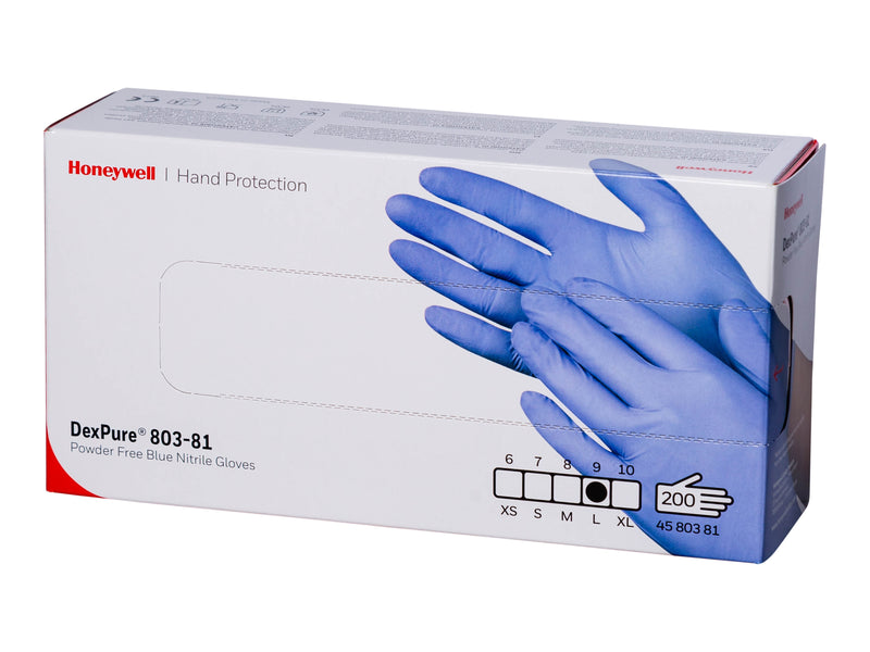 Nitrile Gloves - Disposable - Size Large - Box of 200 - Food Safe