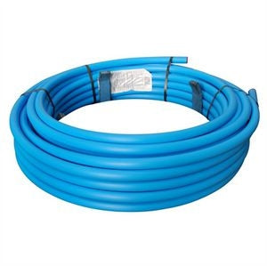 Blue MDPE Pipe 25mm x 50mtr coil