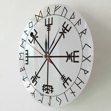 Ladest Du das Bild in den Galerie-Viewer, Vegvisir Rune Kompass Wanduhr
