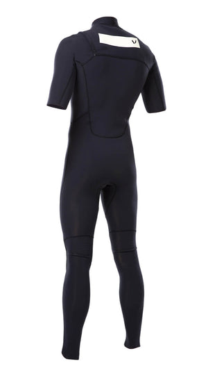 Mens Premium 2x2 Chest-Zip S/S Steamer - Volte Wetsuits Australia