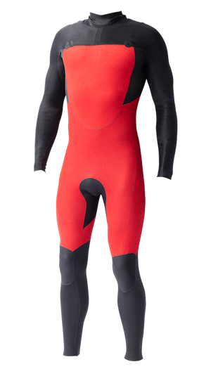 Mens Vital PLUS  4x3 Chest-Zip Steamer - Volte Wetsuits Australia