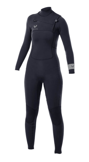 Womens Premium 4X3 Chest-Zip Steamer - Volte Wetsuits Australia