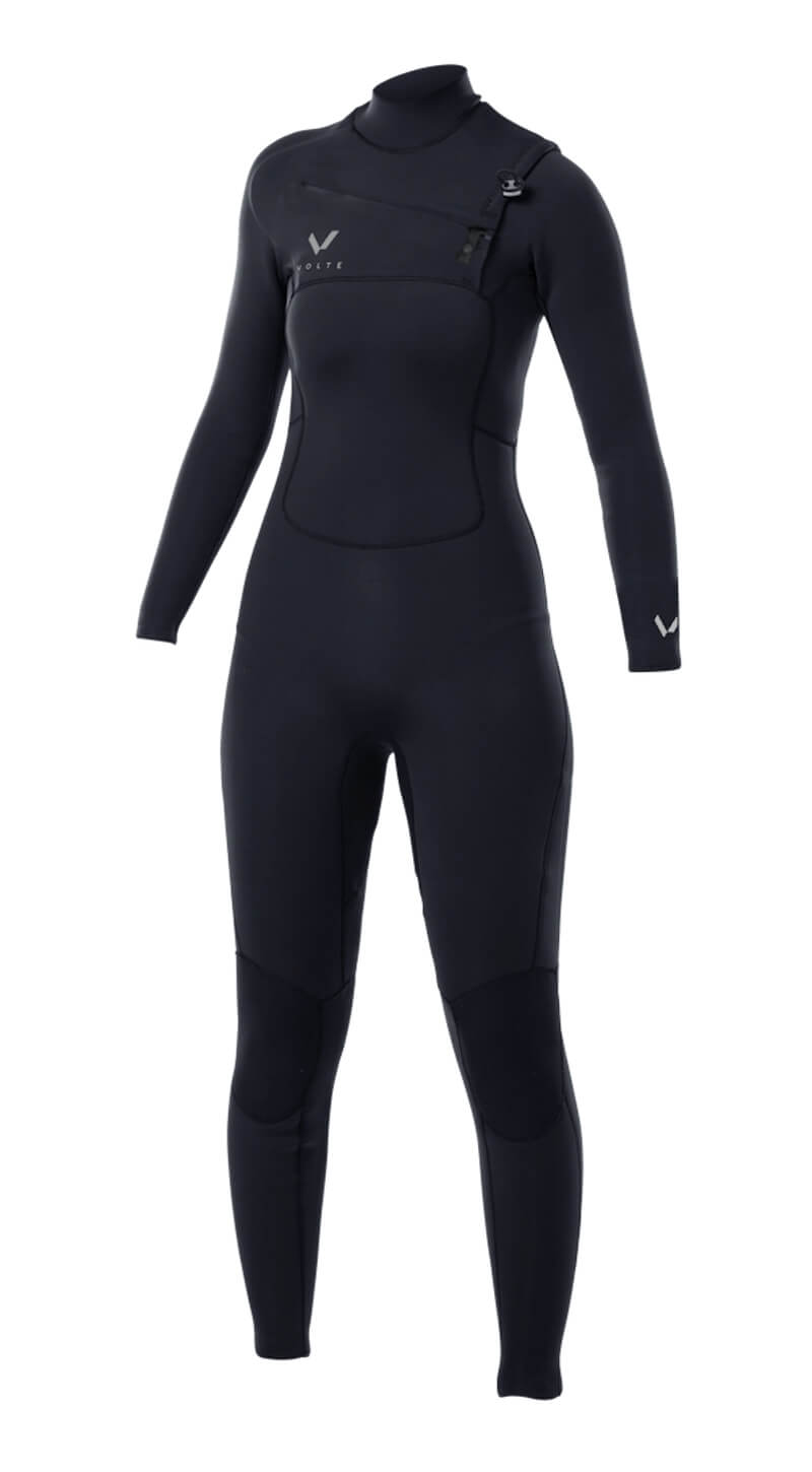 Womens Premium 3x2 Chest-Zip Steamer - Volte Wetsuits Australia