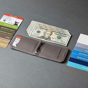 Handmade slim Leather Pull-Out Wallet - Buy 2 Free Shipping