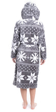 Load image into Gallery viewer, Fair Isle Snowflake Robe