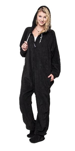 Black to Sleep Onesie - Detachable Feet