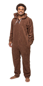 Lay Down Brown Onesie - Detachable Feet