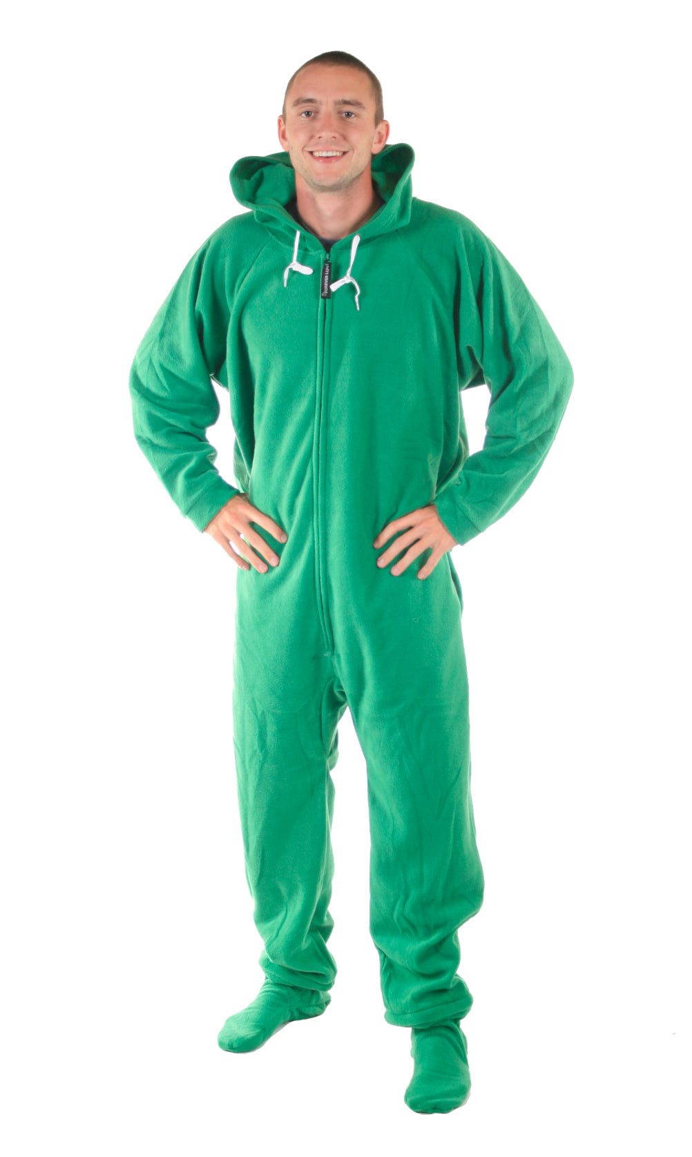 Robin Hoodie Green Onesie - Detachable Feet