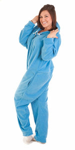 Bum Around Blue Onesie - Detachable Feet