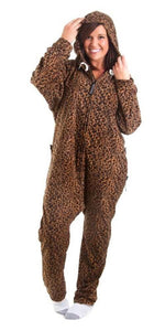 Laid-back Leopard  Onesie - Detachable Feet