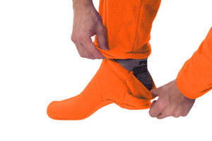 Hunter Orange Onesie - Detachable Feet