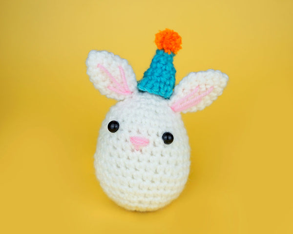 party hat on bunny