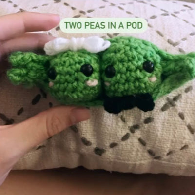 workshop participant's finished 2 peas in a pod