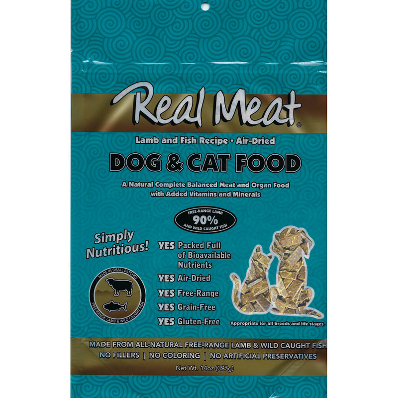 Real Meat Air-Dried Cat Food, Lamb & Fish