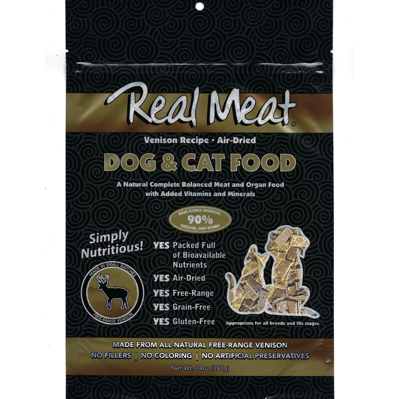 Real Meat Air-Dried Cat Food, Venison