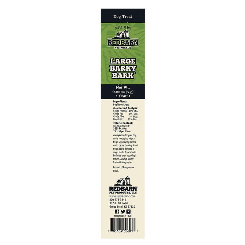 Redbarn Beef Esophagus Jerky Dog Treats, 8oz