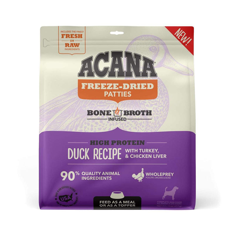Acana Ranch Duck Recipe Freeze Dried Dog Food Patties, 14oz
