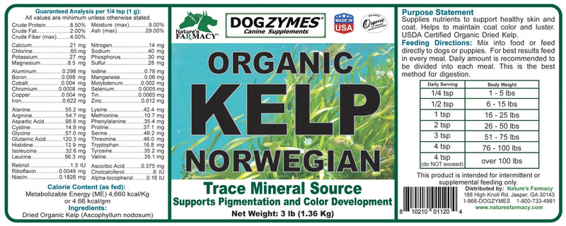 Nature's Farmacy Dogzymes Kelp Supplement For Dogs
