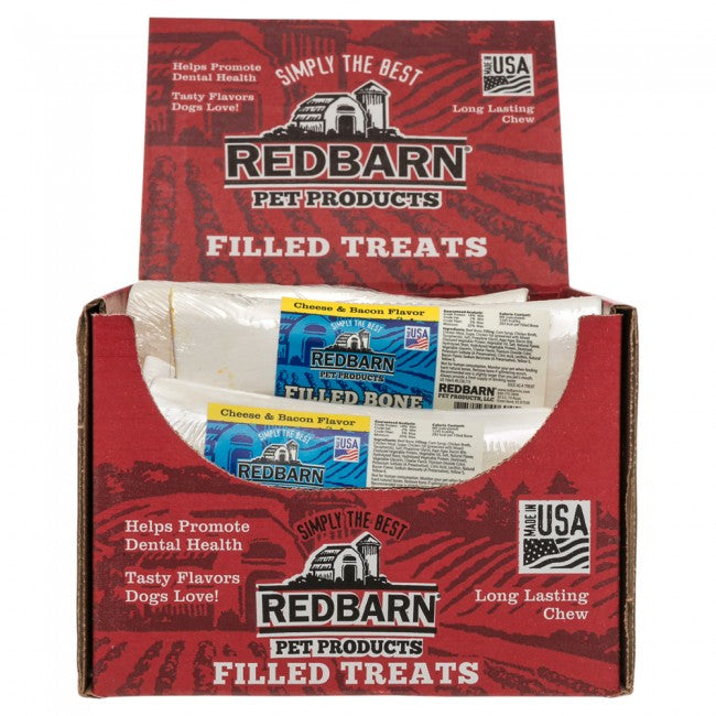 Redbarn Large Cheese & Bacon Filled Bone For Dogs