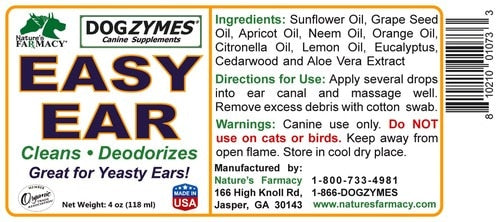 Nature's Farmacy Dogzymes Easy Ear Remedy For Dogs, 2oz
