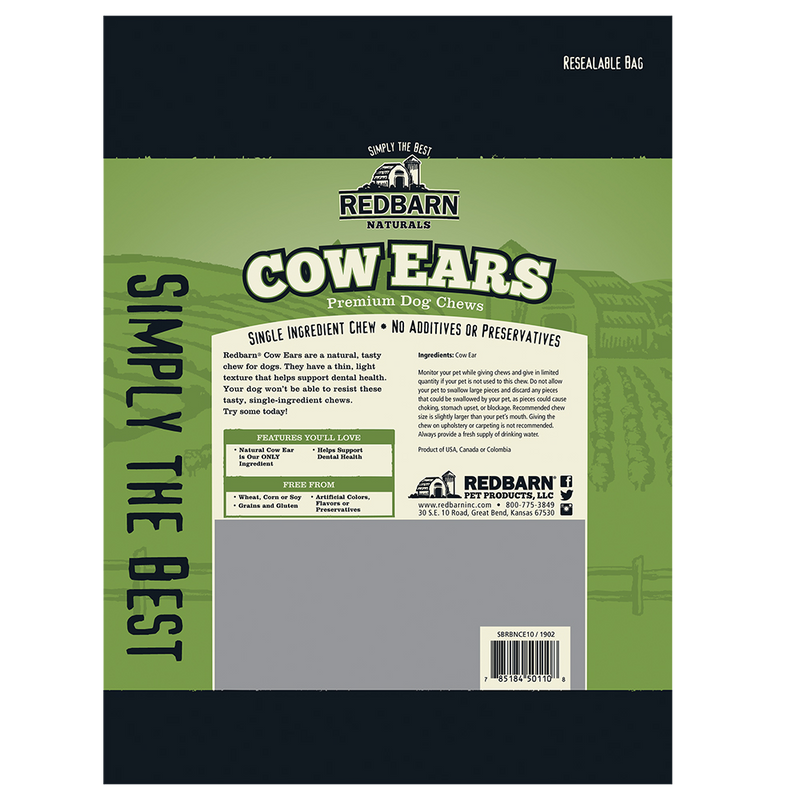 Redbarn Cow Ears, 10 Pack