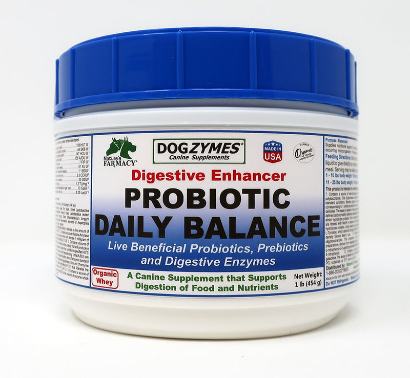 Nature's Farmacy Dogzymes Dis-solvable Probiotic Daily Balance Digestive Enhancer Supplement For Dogs