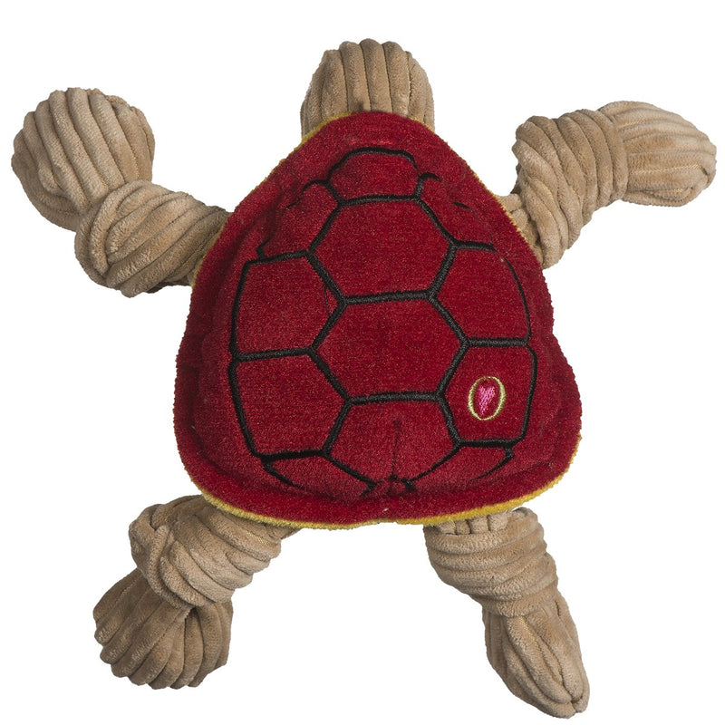 HuggleHounds Knottie Officially Licensed College Mascot Durable Squeaky Plush Dog Toy, Maryland Terrapins