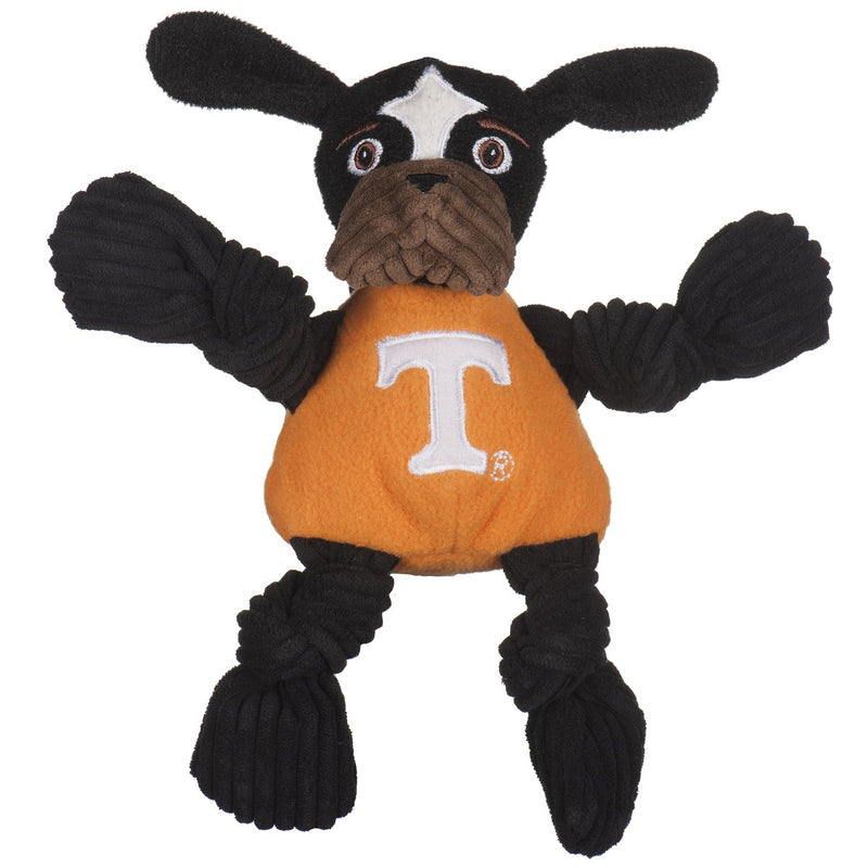 HuggleHounds Knottie Officially Licensed College Mascot Durable Squeaky Plush Dog Toy, Tennessee Volunteers