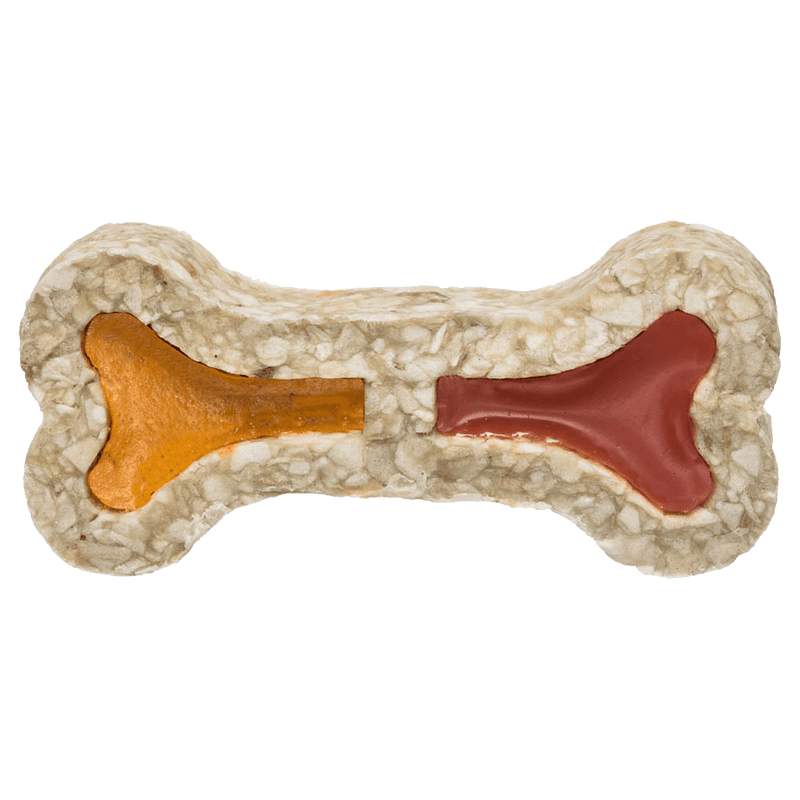 Redbarn Filled Rawhide Bone Dog Treat, Ham & Cheese